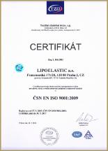 Сертификат качества компрессионного белья Липоеластик