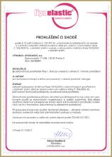 Сертификат качества компрессионного белья Lipoelastic