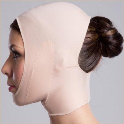 Компрессионное белье после операции на лице, шее и подбородке